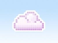 pixel art nuage