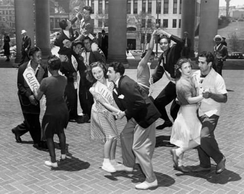 Swing Dance Contest in the 1940's