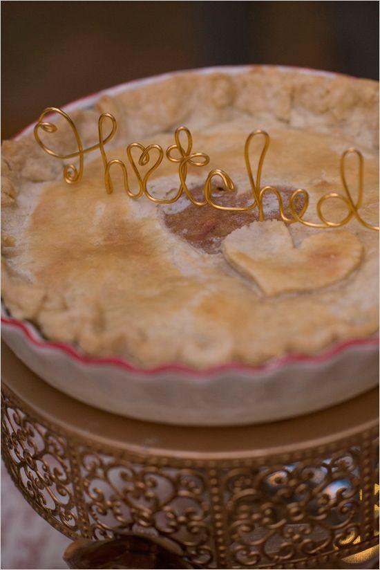 Alternative Vintage Forest Wedding PiesWedding DessertsWedding