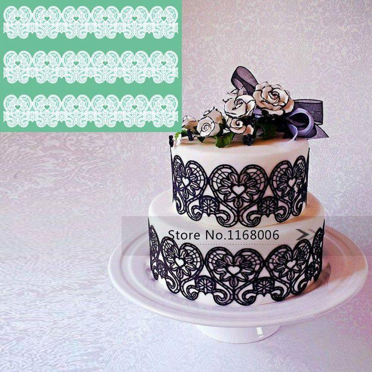 Силиконовые кружева формы силиконовые торт прессформы помадка силиконовые формы для украшения торта инструменты торт кремния кружева формы для кексов торт инструменты