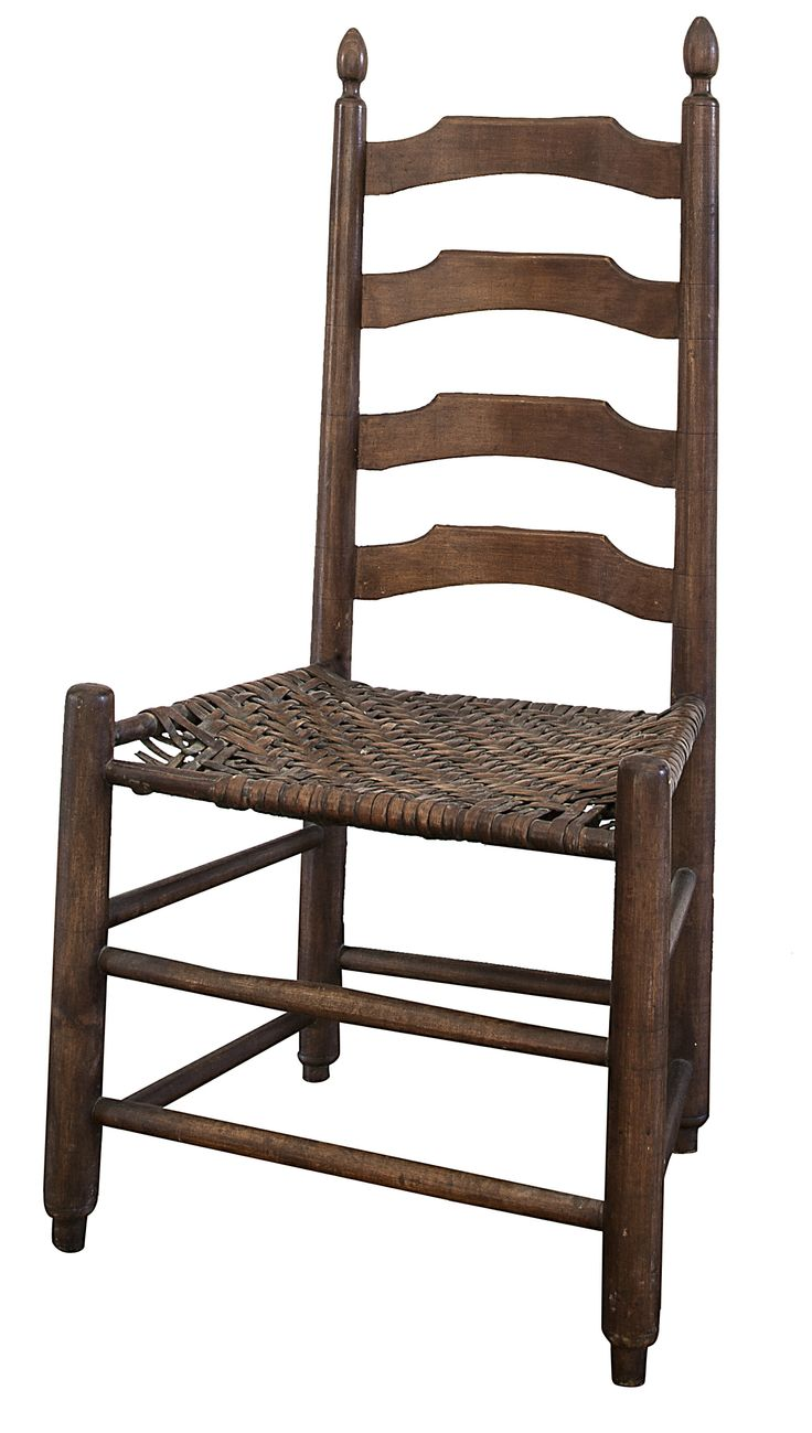 Ladder-back chair, attributed to King Family (David A. or Robert D. King), maple, 1850-1870, Clark County.