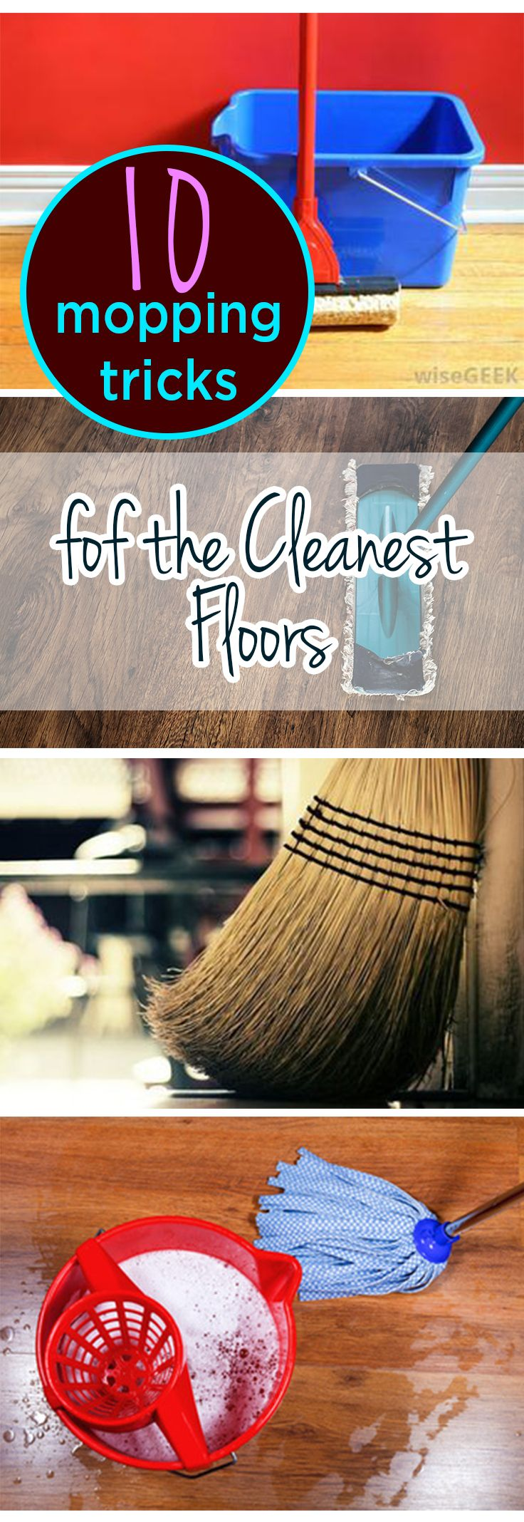 10 Mopping Tricks fof the Cleanest Floors