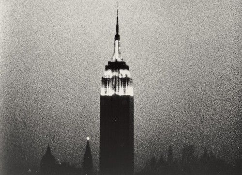 Empire  Andy Warhol (American, 1928-1987)    1964. 16mm film transferred to video (black and white, silent), 8 hours 5 min. at 16 frames per second. Original film elements preserved by The Museum of Modern Art, New York  Collection of The Andy Warhol Museum, Pittsburgh  Gift of The Andy Warhol Foundation for the Visual Arts, Inc. © 2012 Andy Warhol Foundation for the Visual Arts / Artists Rights Society (ARS), New York