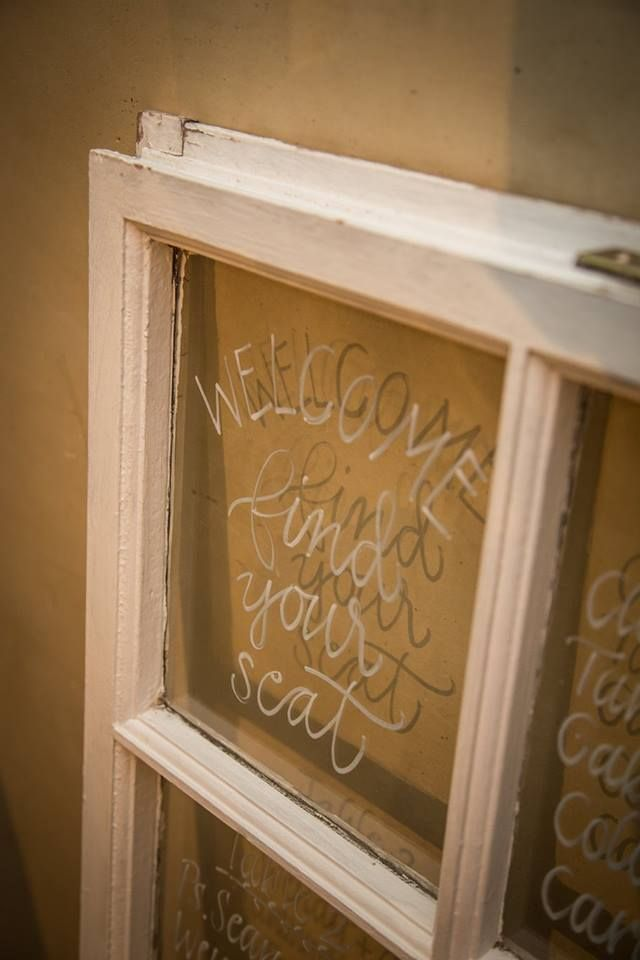 Table seating window frame