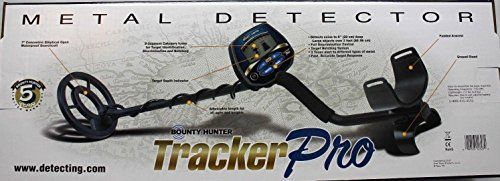 awesome BOUNTY HUNTER TRACKER PRO ADJUSTABLE METAL DETECTOR w/ LCD TARGET ID