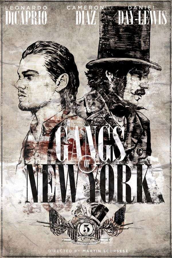 Gangs of New York. This was the first time that Leonardo DiCaprio worked with Martin Scorsese.