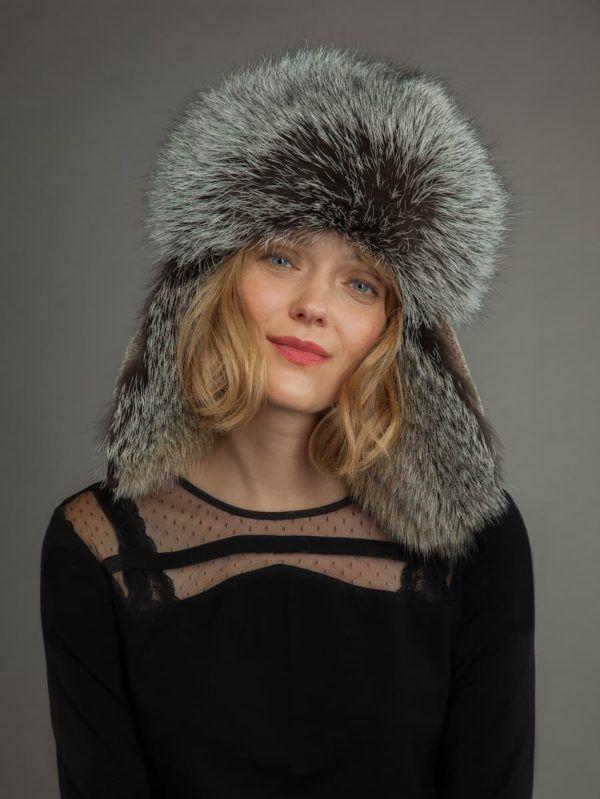 With Ear Flaps Handmade Trapper Hat Ushanka Sheepskin /& Fox Fur Hat Unisex