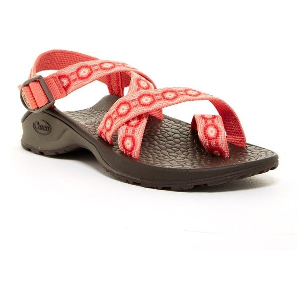 Chaco Updraft Ecotread 2 Loop Toe Sandal ($57) ❤ liked on Polyvore featuring shoes, sandals, coral crops, chaco, chaco shoes, chaco sandals, strap sandals and woven shoes