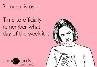 Summer is over for teachers almost... (insert tear now)