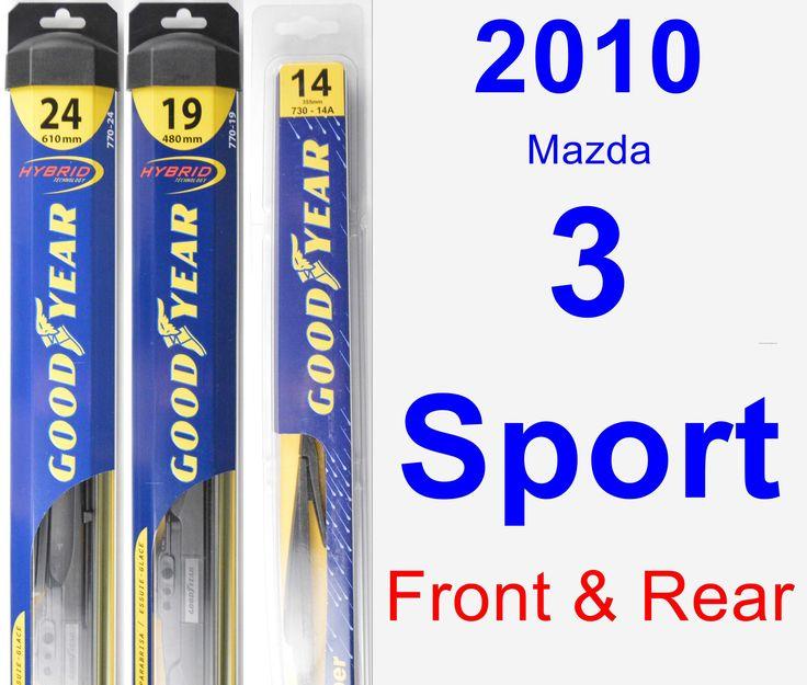 Front & Rear Wiper Blade Pack for 2010 Mazda 3 Sport - Hybrid