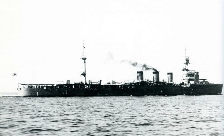 Japanese 5.5 in light cruiser Nagara: dating from the 1920s, this class were often used as destroyer flotilla leaders.  After an eventful Pacific war Nagara was sunk by a US submarine in August 1944.