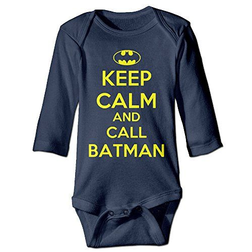 Tara Keep Calm And Call Batman For 624 Months Toddler Romper Bodysuit For 624 Months 18 Months Navy >>> Click image to review more details.