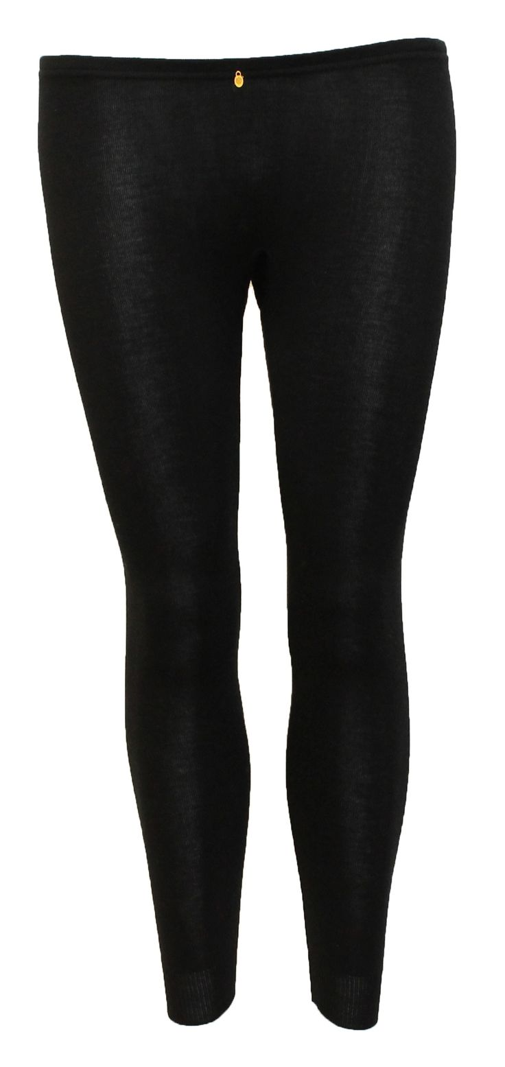 www.verawilliam.no LB-09-MSWR High Waist Longs Black [Raw Nature] Sz. 36 - 38 - 40 Merino Wool (70%) Silk (30%) NOK: 1450,-