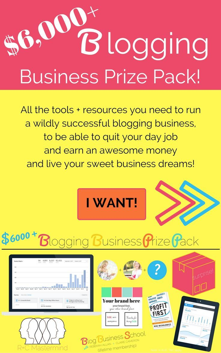 $6,000+ Blogging Business Prize Pack! Go in the draw for the chance to win. Find out more here - http://blogbusinessschool.net