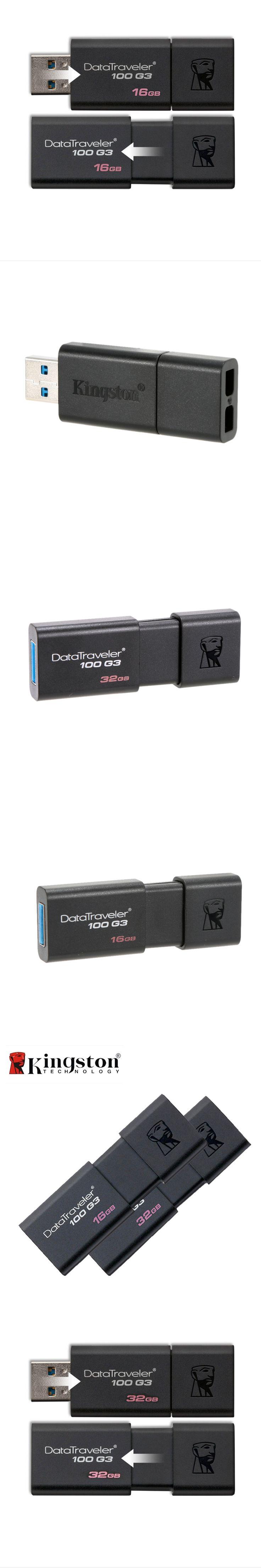 Kingston DT100G3 USB Flash Drive 32GB 16GB Pen Drive Pendrive 64 GB 128 GB Memoria USB Memory Stick Flash USB 3.0