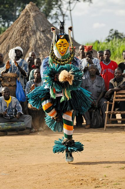 Africa | Masquerader dancing.  Ivory Coast | ©Nabil Zorkot.