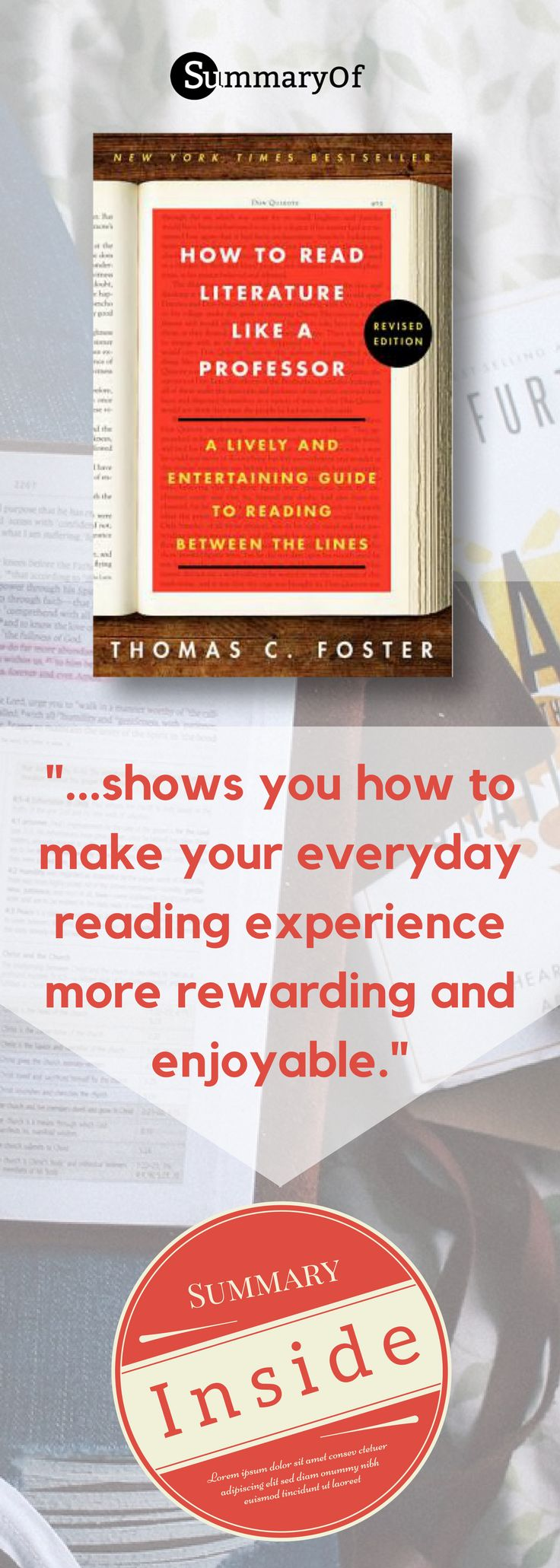Get more out of your time with books - read like a professor! Click to read summary! #professor #litterature #nonfiction #summary #15min #books
