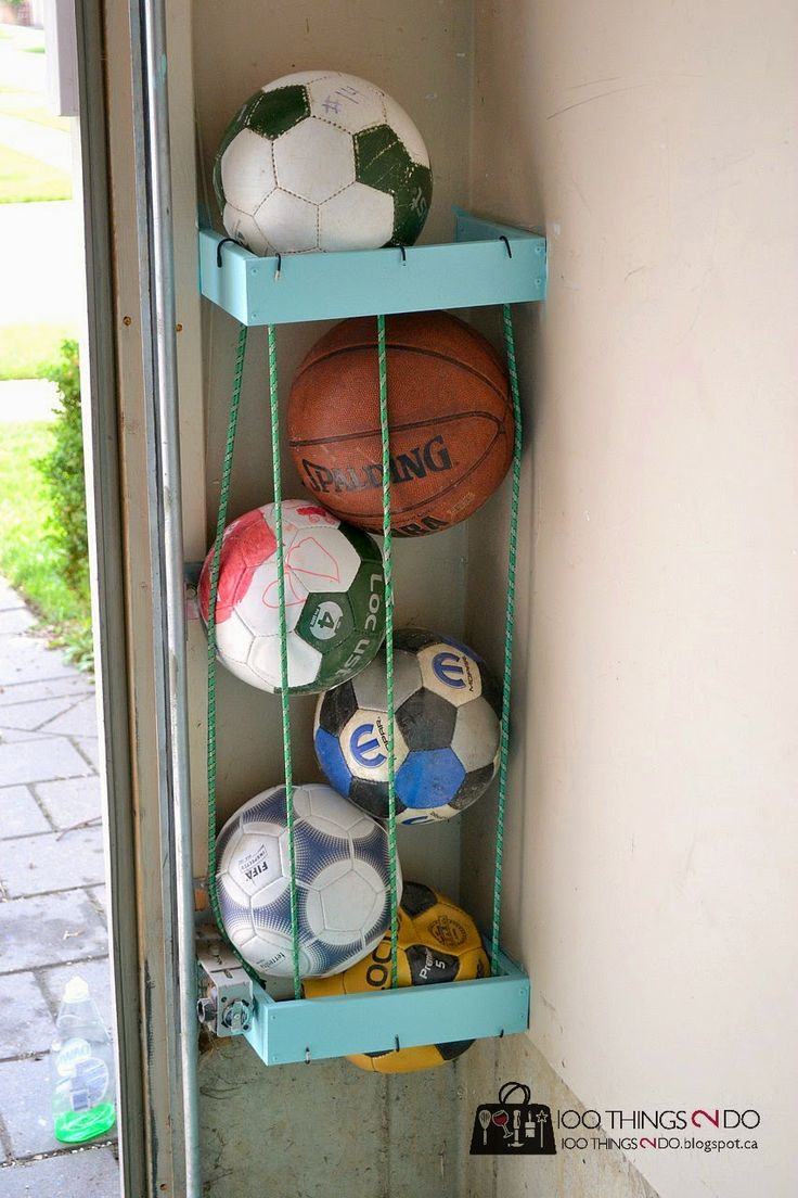 1000 Ideas About Ball Storage On Pinterest Garage