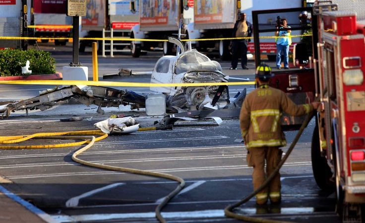 Plane crashes in San Diego parking lot; 1 dead... 80 year old women Died .....    Wanda......