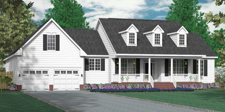 House plan 2990 a the arlington a classical one story for Large cape cod house plans