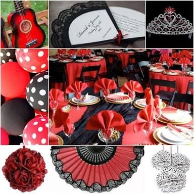 spanish themed table settings - Google Search