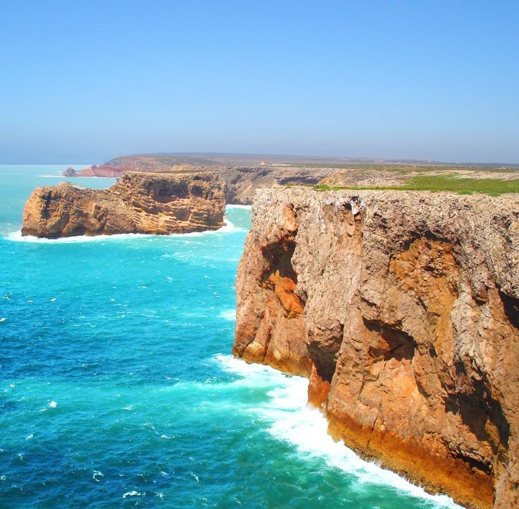 Sagres, Portugal.  From this point early navigators thought they would sail off the edge of the world.