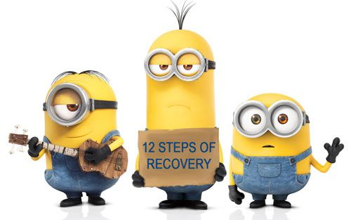 The 12 Steps Of Recovery As Told By Minions (GIFs) #twelvesteps #sober #AA #alcoholicsanonymous #steps #freedom #faith #courage #alcoholism #addiction #addict #minions #fun #support