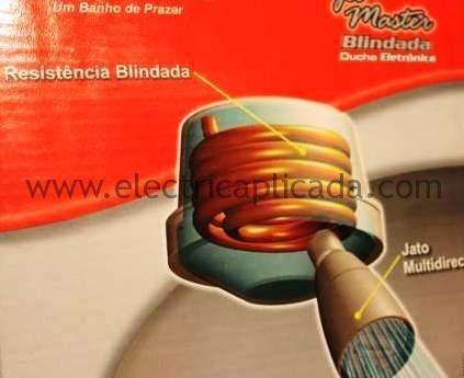 Ducha electrica con resistencia blindada