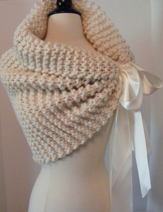LOVE this Idea! Hand Knit Shawl / Wedding Shawl / Custom Made just for you! $103.00