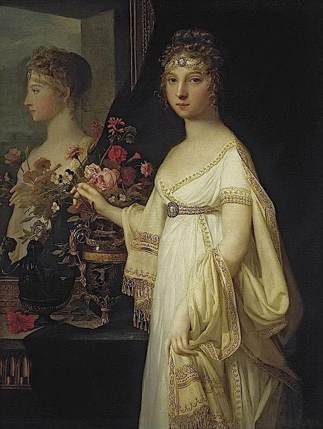 1802 Elisabeth Alexeievna by Jean-Laurent Mosnier