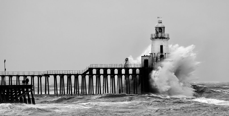 Cambois Pier in Blyth, Northumberland, UK. By Trevor - had to get ferry if going to Cambois.