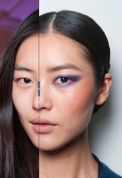 Model Morphosis: Liu Wen at Jason Wu Fall 2013. Makeup by Diane Kendal. Click to see before/after.
