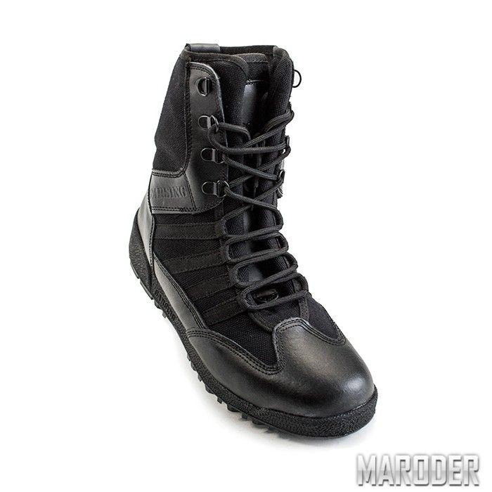 Тактические ботинки SHARK черные кожа. Garsing | Tactical ...