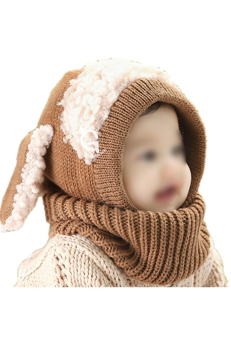 TFGS 10 x (Lovely Baby Girl Boy Knitted Crochet Winter Hats Puppy Dog Beanie Caps Khaki //Price: $US $48.08 & FREE Shipping //     #clothing