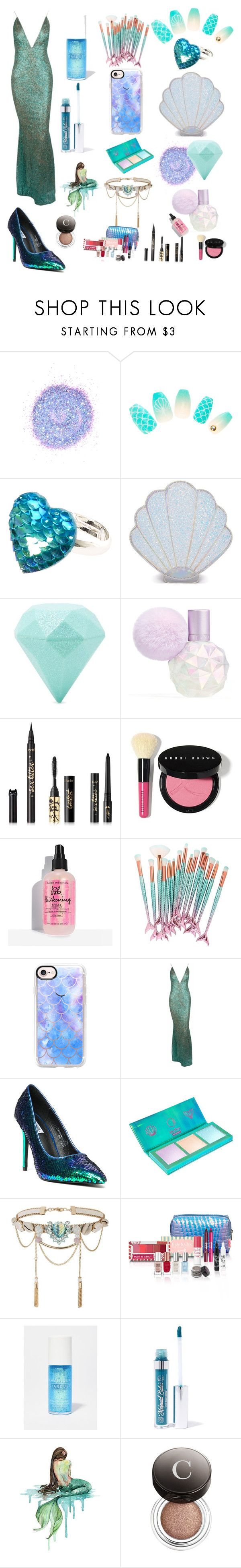 """""""Mermaid"""" by ciaosonia-1 ❤ liked on Polyvore featuring The Gypsy Shrine, Sugar Thrillz, Forever 21, tarte, Casetify, Cape Robbin, Lime Crime, Miss Selfridge, Goody and Mermaid Salon"""