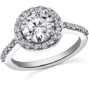 Tiffany Engagement Rings - Tiffany Embrace: Tiffany Engagement Rings, Round Moissanite, Moissanite Halo, Tiffany Embrace, Halo Rings, Round Diamonds, Dreams Rings, Embrace Round, Halo Engagement Rings