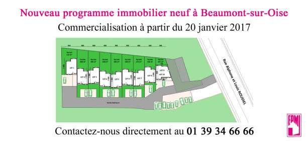 Média réf. 2951 (2/2): Nouveau programme immobilier neuf à Beaumont-sur-Oise