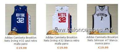 Réplica de Ventas camiseta nba baratas online €19.99: Réplica camisetas de baloncesto Brooklyn Nets €19....