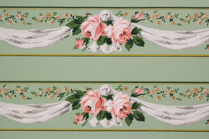 Rose swags wallpaper