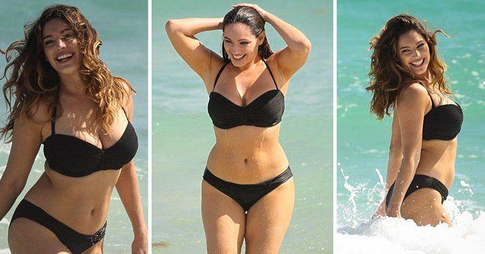 """Según un estudio realizado en una Universidad de Texas, Kelly Brook, modelo y actriz tiene """"el cuerpo perfecto"""" y representa las """"medidas perfectas""""."""