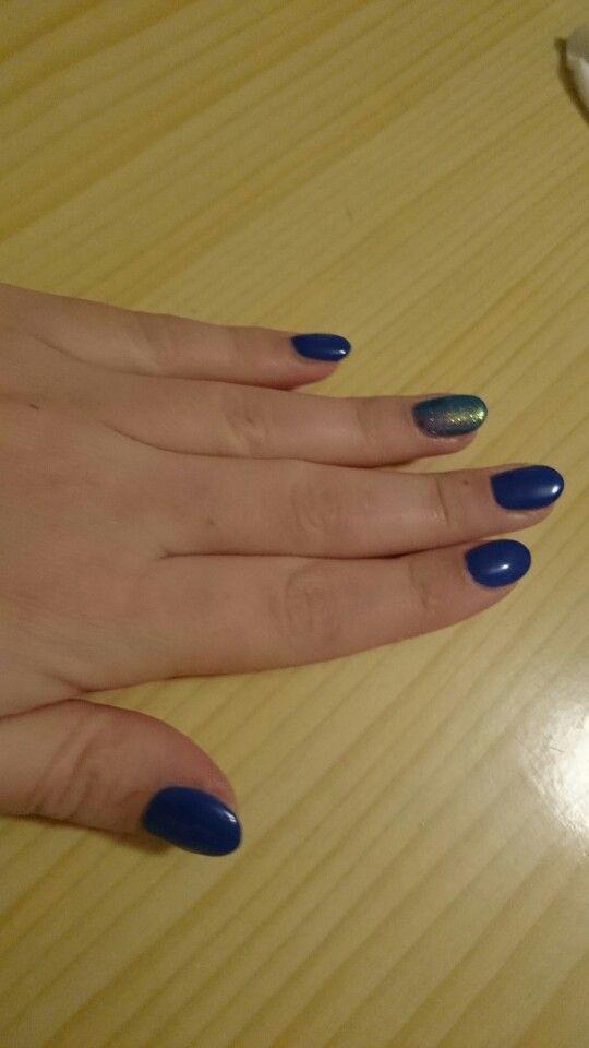 Mermaid effect on blue