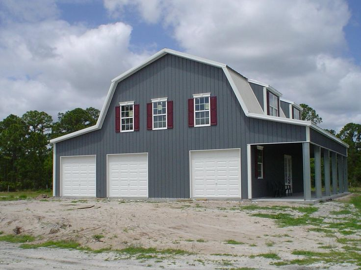 1000 images about gambrel barns on pinterest black barn for Gambrel garage kit