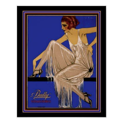 #Bally Chaussures Deco Poster 16 x 20 ca. 1924 - #deco #gifts