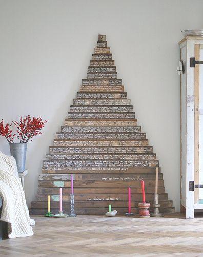 Deco and Living: Árboles de Navidad hechos con palets