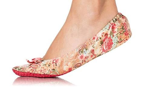 Kimberly (Pink Floral) Flat Out Flats