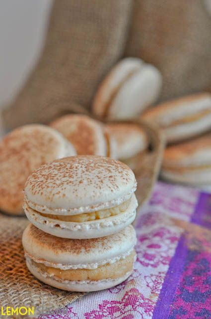 This delicate Tiramisu French Macaron is filled with an easy, creamy Marscapone & coffee liqueur filling. No aging of egg-whites required! Easy Macarons.
