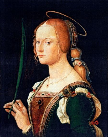 Isabella dEste as Saint Justina of Padua, the favourite saint of the Duchy of Ferrara.