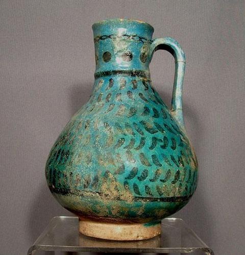 Antique Persian Medieval Islamic Seljuk Kashan Muslim Jug 6 Century A H
