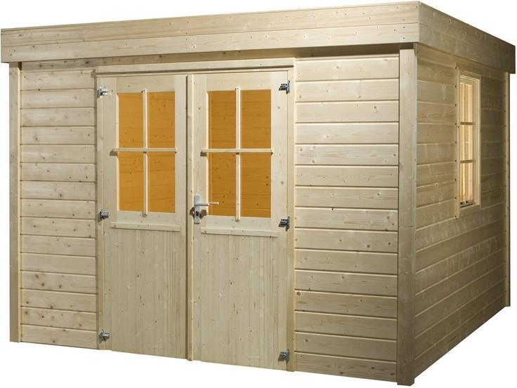 Blokhut / tuinhuisje met plat dak model Infinity CI 4010 van Bear County - Maison et décoration - Jardinage - Bear County