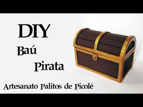 DIY: Como Fazer um Baú do Tesouro Pirata (Artesanato palitos picolé) | Ideias Personalizadas - DIY - YouTube